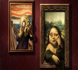 عکس زمینه تابلو های هنری متفاوت