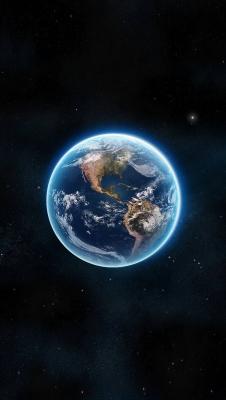 عکس زمینه کره زمین زیبا و آبی