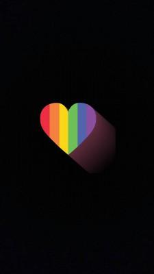 عکس زمینه قلب رنگین کمان