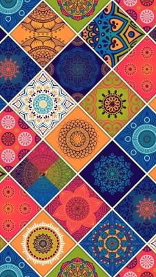 عکس زمینه الگو زیبا رنگی و طرح و نگار