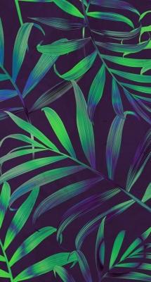 عکس زمینه برگ سبز و بنفش زیبا