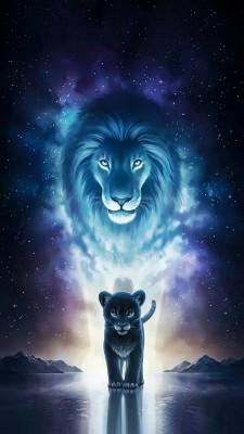 عکس زمینه شیر و شاه
