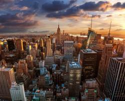 عکس زمینه نمای هوای زیبا از شهر