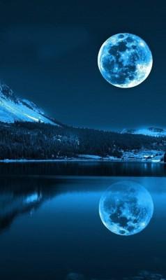 عکس زمینه ماه و مهتاب و شب