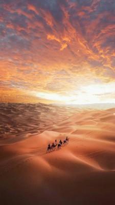 عکس زمینه غروب کویر زیبا