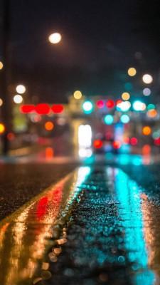 عکس زمینه جاده در شب IP6