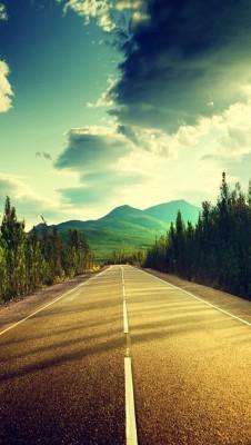 عکس زمینه مسیر جاده صاف