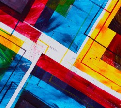 عکس زمینه نقاشی هنری اشکال هندسی رنگی