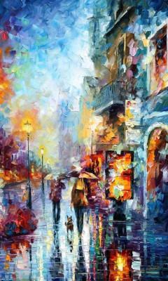عکس زمینه نقاشی رنگی زیبا