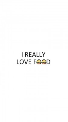 عکس زمینه من عاشق غذا هستم