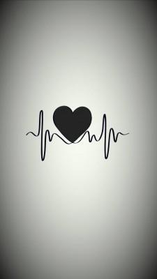 عکس زمینه تپش قلب سیاه