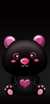 عکس زمینه خرس سیاه صورتی