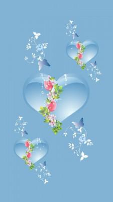 عکس زمینه قلب آبی روشن