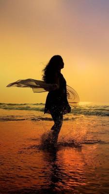 عکس زمینه دختر دریا