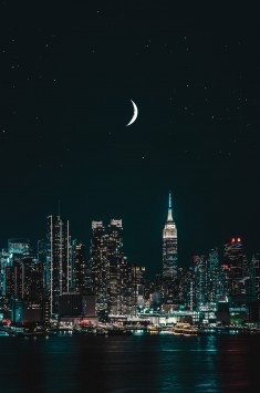 عکس زمینه ساختمان های بلند نیویورک د شب