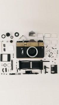 عکس زمینه اجزای دوربین DSLR