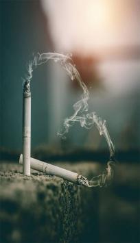 عکس زمینه دور سیگار عاشقانه
