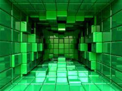 عکس زمینه مکعب های سه بعدی تو در تو