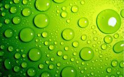 عکس زمینه قطرات آب سبز رنگ سه بعدی