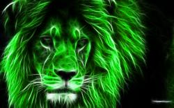 عکس زمینه شیر نئونی سبز رنگ