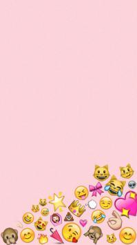عکس زمینه اسمایلی های دخترونه با تم صورتی