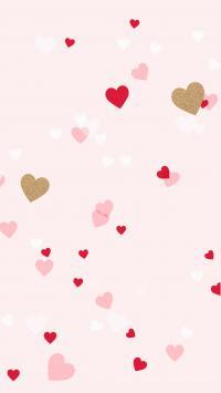 عکس زمینه قلب های رنگارنگ با زمینه صورتی