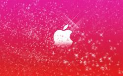عکس زمینه اپل دخترونه قرمز صورتی