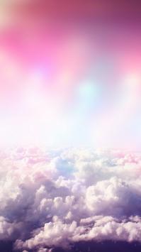عکس زمینه ابر رویایی دخترونه رمانتیک