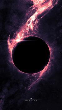 عکس زمینه فضای بنفش و تاریکی