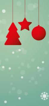 عکس زمینه نماد های کریسمسی