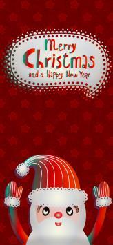 عکس زمینه تبریک کریسمس بابا نوئل کارتونی