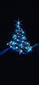 عکس زمینه درخت کریسمس آبی