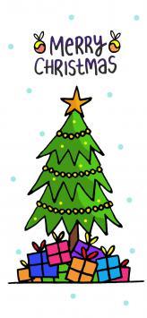 عکس زمینه تبریک کریسمس انگلیسی کارتونی فانتزی
