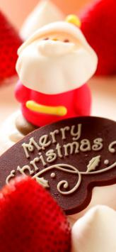 عکس زمینه تبریک کریسمس کیک و شیرینی بابانوئل