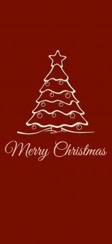 عکس زمینه درخت کریسمس قرمز
