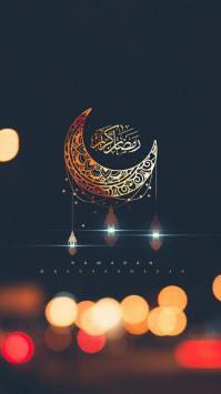 عکس زمینه حلال ماه و نور ماه رمضان
