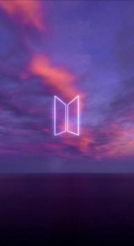 عکس زمینه لوگو گروه BTS بنفش