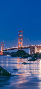 عکس زمینه طرح پل گلدن گیت سانفرانسیسکو آمریکا