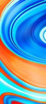عکس زمینه اصلی شیائومی ردمی نوت 9 نارنجی آبی