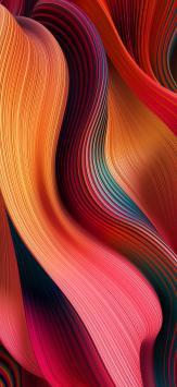 عکس زمینه اصلی شیائومی ردمی نوت 9 نارنجی قرمز صورتی