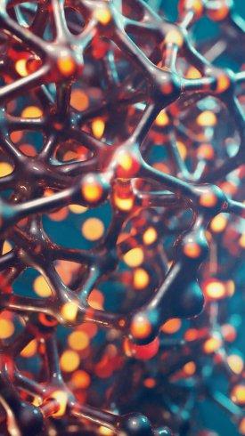 عکس زمینه ساختار سلولی به هم پیوسته ماکرو 4K