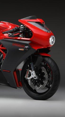 عکس زمینه موتور قرمز مسابقه ای