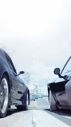 عکس زمینه اتومبیل های مسابقه ای در فیلم سریع و خشن