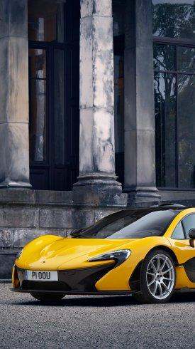 عکس زمینه ماشین مک لارن زرد