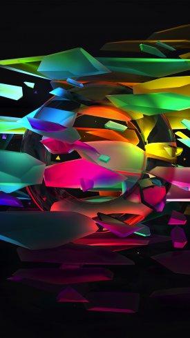 عکس زمینه طیف قطعات رنگارنگ