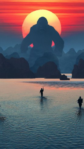عکس زمینه فیلم کنگ در جزیره جمجمه