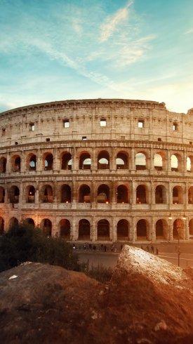 عکس زمینه معماری باستانی کولوسئوم رم ایتالیا