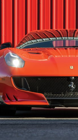 عکس زمینه خودرو فراری قرمز رنگ اسپورت