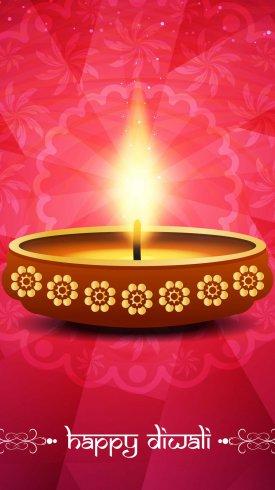 عکس زمینه شمع روشن در جشن های هندی