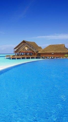 عکس زمینه استراحتگاه ساحل مالدیو